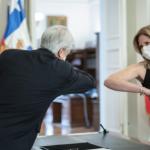 Macarena Santelices asumiendo el cargo. Foto: Presidencia.